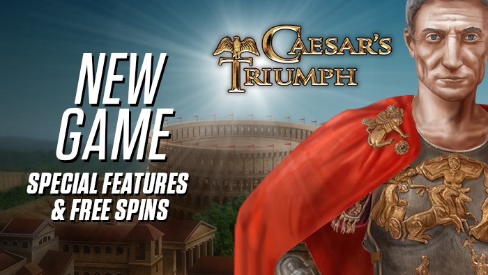 Check out our new Caesar's Triumph slots game - Bodog Casino
