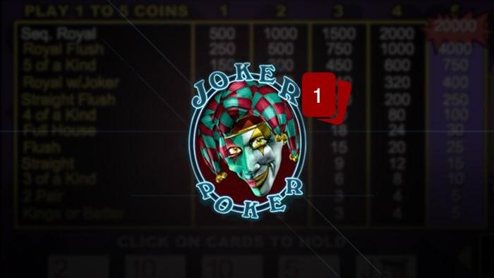 Video Poker: Joker Poker Rules - Bodog Casino